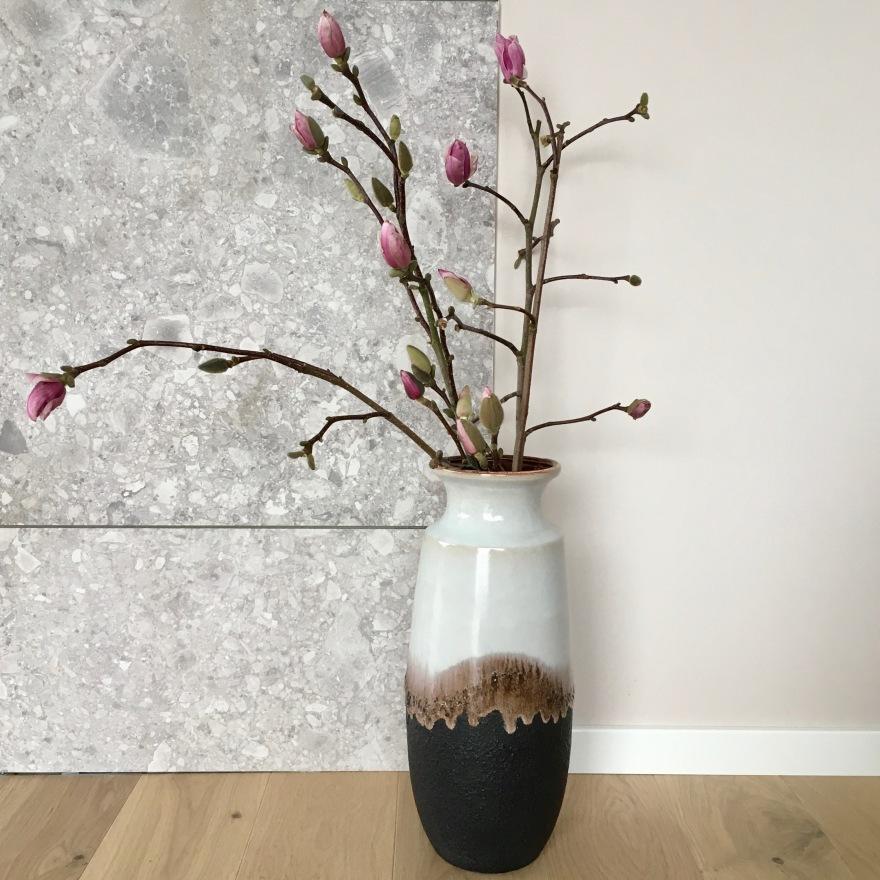 scheurich gulvvase brun og hvit.jpg